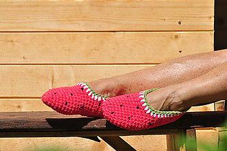 Obuv - papuče melónik - 7146372_