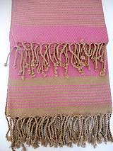 Úžitkový textil - Fouta/Uterák « Reťazec» Set 2 ks - 7145731_