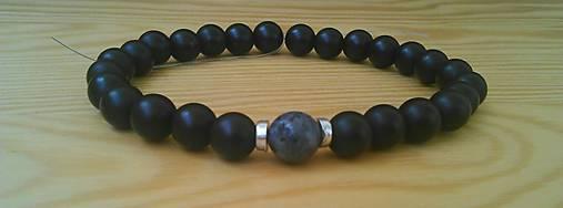 8b86fa62e Pánsky náramok z minerálov onyx a čierny labradorit / Radysk - SAShE ...