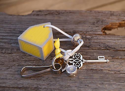 Kľúčenky - Domček na tašku alebo kľúče 2 - 7146366_