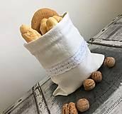 Úžitkový textil - Ľanové vrecúško z ručne tkaného ľanu 35x25 cm - 7144995_