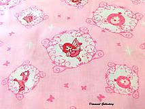 Textil - Bavlnená látka - Ružové kráľovstvo - Cena za 10 - 7146956_