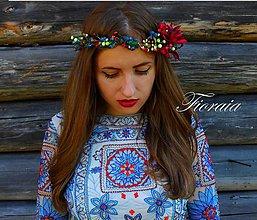 """Ozdoby do vlasov - Kvetinový venček """" Čaro jesene """" - 7148354_"""