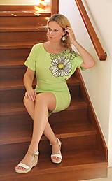Šaty - Maľované šaty s margarétou... - 7146807_