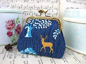 Peňaženky - Taštička V modrém lese - 7148056_