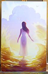 Obrazy - Dievča svetla - 7148158_