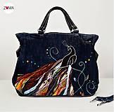 Kabelky - MONA Abstract Bird kabelka do ruky aj na plece - 7148863_