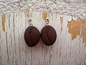 Náušnice - kávové zrnká-náušnice (zrnká) - 7149022_
