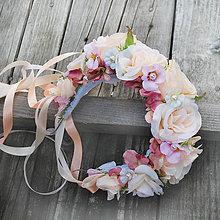 Ozdoby do vlasov - Čelenka- parta v marhuľovo-ružovej - 7152046_