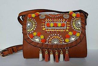 Kabelky - Indianska zdobená kabelka - 7152276_
