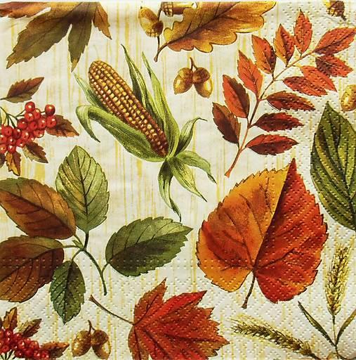 Papier - S783 - Servítky - jeseň, list, les, buk, jarabina - 7152065_