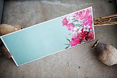 Papiernictvo - Obálka na peniaze - kvety - 7151114_