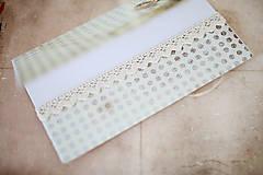 Papiernictvo - Scrapbook obálka na peniaze - prírodná - 7151135_