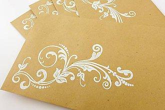 Papiernictvo - sada obálok s ornamentom - 7150218_