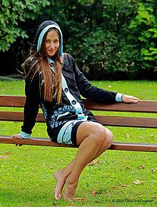 Mikiny - Dámska mikina s kapucou, vreckami, maľovaná, etno LÚTHIEN - 7150071_