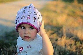 Detské čiapky - Mačičková - 7150563_