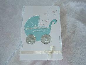 Papiernictvo - Pohľadnica A5 - k narodeniu chlapčeka - 7149926_