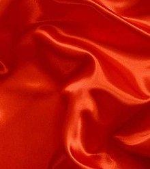 Textil - Satén pevný -  jasne červený SK13 - 7151863_