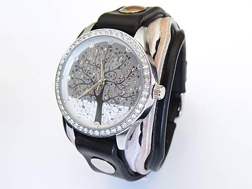b47e62a22 Dámske hodinky bielo čierne / leon - SAShE.sk - Handmade Náramky