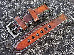 Náramky - Kožený remienok pre apple hodinky, Apple watch remienok 42mm - 7150004_