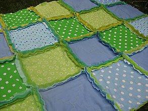 Textil - modro-zelená, zeleno-modrá :-) - 7151091_