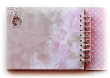 Papiernictvo - Album pre dievčatko-fotoalbum tyrkysov ý - ružový-pastelový/jediný kus - 7152013_