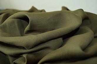 Textil - Ľan tmavozelený - 7150875_