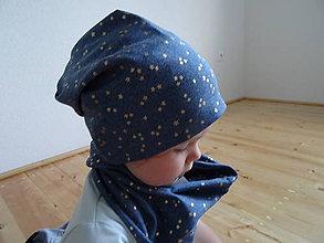 Detské čiapky - jeans s hviezdičkami - 7152580_