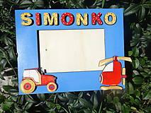 Rámiky - rámik s traktorom a vrtulníkom - 7151840_