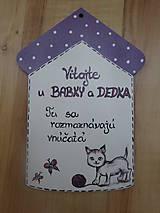 Tabuľky - tabuľka na dvere u starkých - 7152140_