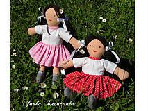 Hračky - bábika s bodkovanou sukničkou - 7152850_
