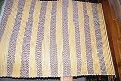 - Tkaný koberec hnedo-žltý - 7152537_