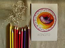 Papiernictvo - pohľadnica: v t á č i k - l e t á č i k - 7155034_