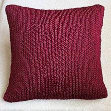Úžitkový textil - Vankúš bordový. - 7154870_