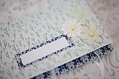 Papiernictvo - Scrapbook obálka na peniaze - royal blue - 7155239_