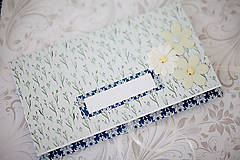 Papiernictvo - Scrapbook obálka na peniaze - royal blue - 7155240_