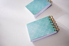 Papiernictvo - Tyrkysové drobátka do kabelky - 7155251_