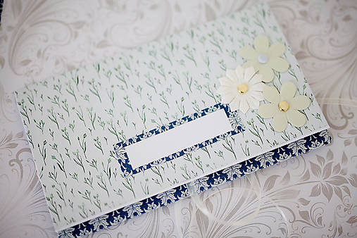 Scrapbook obálka na peniaze - royal blue