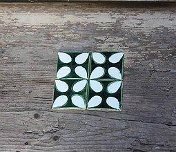 Dekorácie - kachličky kvetinkové v modrobielom - 7153387_