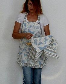 Iné oblečenie - Zástera Belasý motýľ - 7155110_