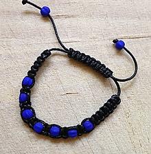 Náramky - Makramé náramok modrý - 7154238_