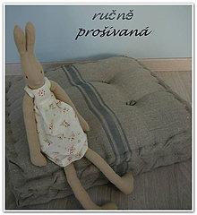 Úžitkový textil - Lněná francouzská matračka 50x50x11cm - 7155901_