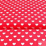 - červené srdiečka; 100 % bavlna, šírka 140 cm, cena za 0,5 m - 7155527_