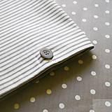 Úžitkový textil - bavlnené obliečky bodka/pásik - 7155648_