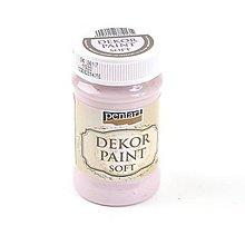 Farby-laky - Dekor Paint Soft-100 ml- viktoriánska ružová - 7155657_