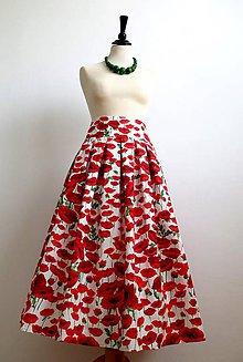 Sukne - sukňa vlčie maky - 7153900_