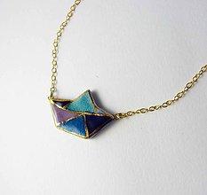 Náhrdelníky - Tana šperky - keramika/zlato - 7155456_