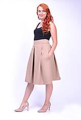 Sukne - Elegantná hnedá sukňa - 7155335_