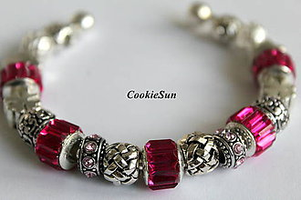 Náramky - Náramok Pandora Fuchsia - 7156061_