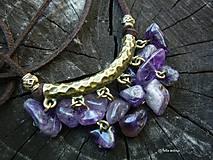 Náhrdelníky - Ametyst v bronze - 7154437_